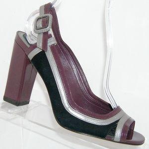 Cole Haan purple patent leather NikeAir heels 9B